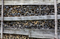 Weathered Firewood Stack
