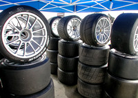 Racing Tires Staged
